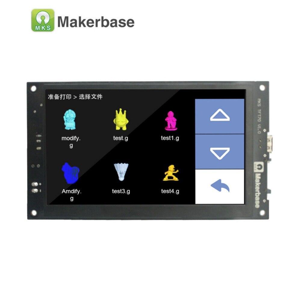 3D дисплее принтера МКС TFT70 с 7,0 дюймов сенсорный экран, который превью gcode модель в печати и поддерживает семь языков