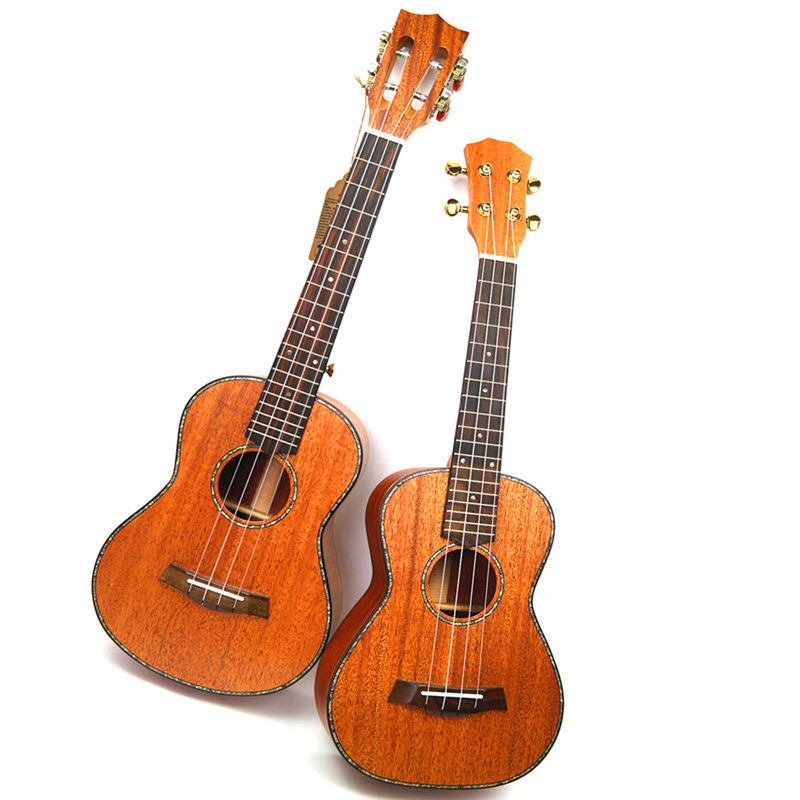 26 Ukulele Tenor All Solid Wood Hawaiian 4 strings Guitar Mahogany Body guitarra Ukelele 26 High quality Uku string instrument ash wood body matt black finish tele electric guitar guitarra all color accept