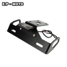 цены Motorcycle License Plate Holder License Bracket Tail Tidy Fender Eliminator For Z1000 2014-2017