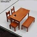 Mnotht AC 17 Massivholz Schreibtisch Stuhl Esstisch Hocker 1/6 Miniaturmöbel Modell für 12 ''Soldat Action Figure Puppenhaus B-in Action & Spielfiguren aus Spielzeug und Hobbys bei