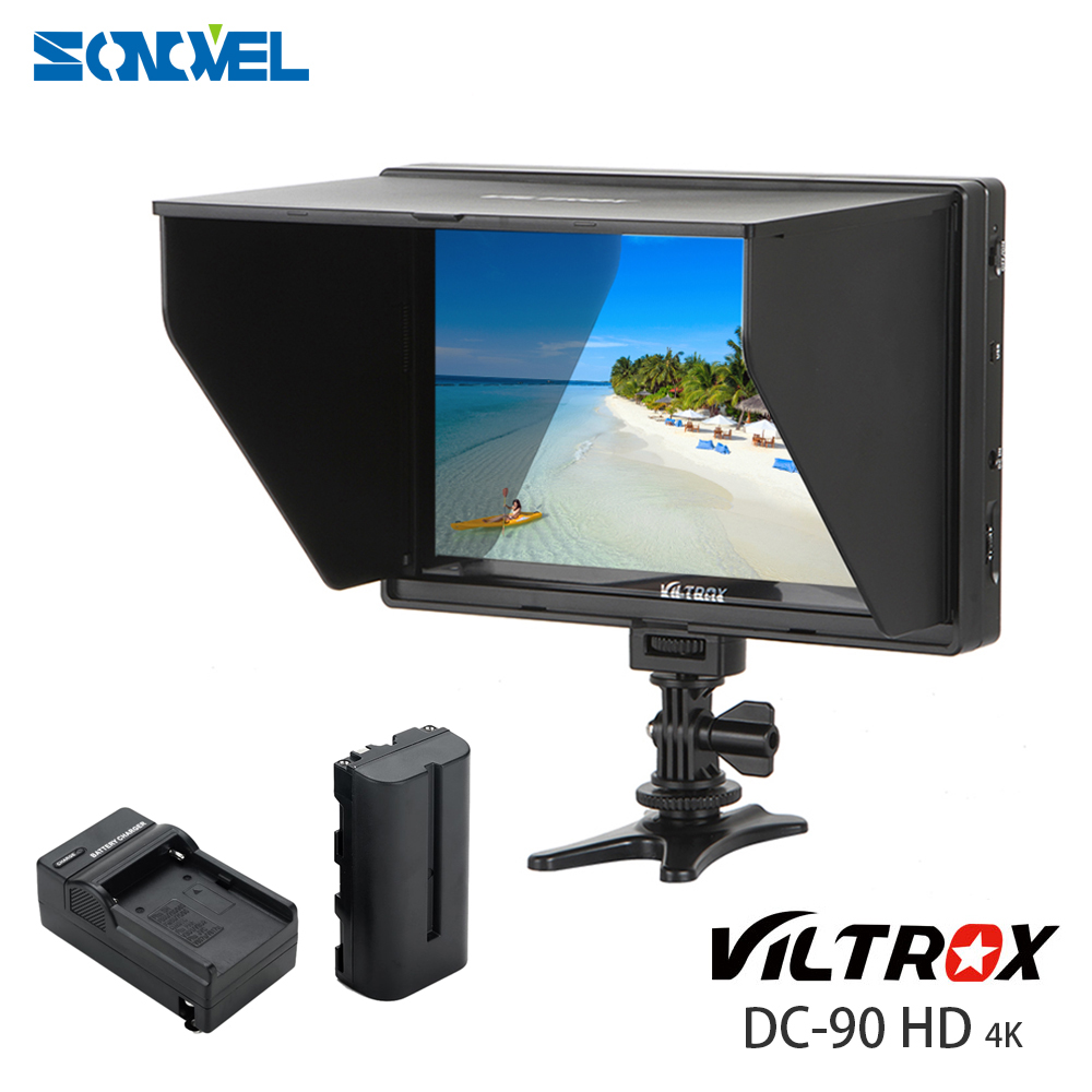 Viltrox DC-90 Clip-on 8.9''inch 4K IPS HD LCD Camera Video Monitor Display HDMI AV Input for Canon Nikon sony camera video Kit f450 4 5 inch ips 1280x800 hd 4k field lcd camera monitor with hdmi input output uhd peaking focus and other monitor accessory