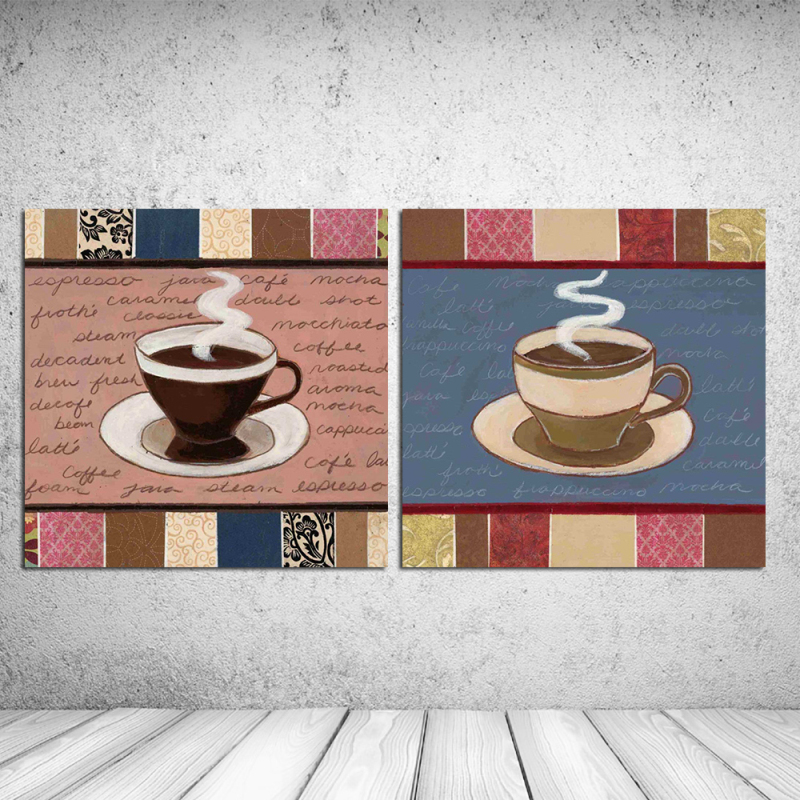 Hot sale Oil painting about Hot coffee Food cuadros decoration print on canvas wall art craft home decor pictures RZ-BB043