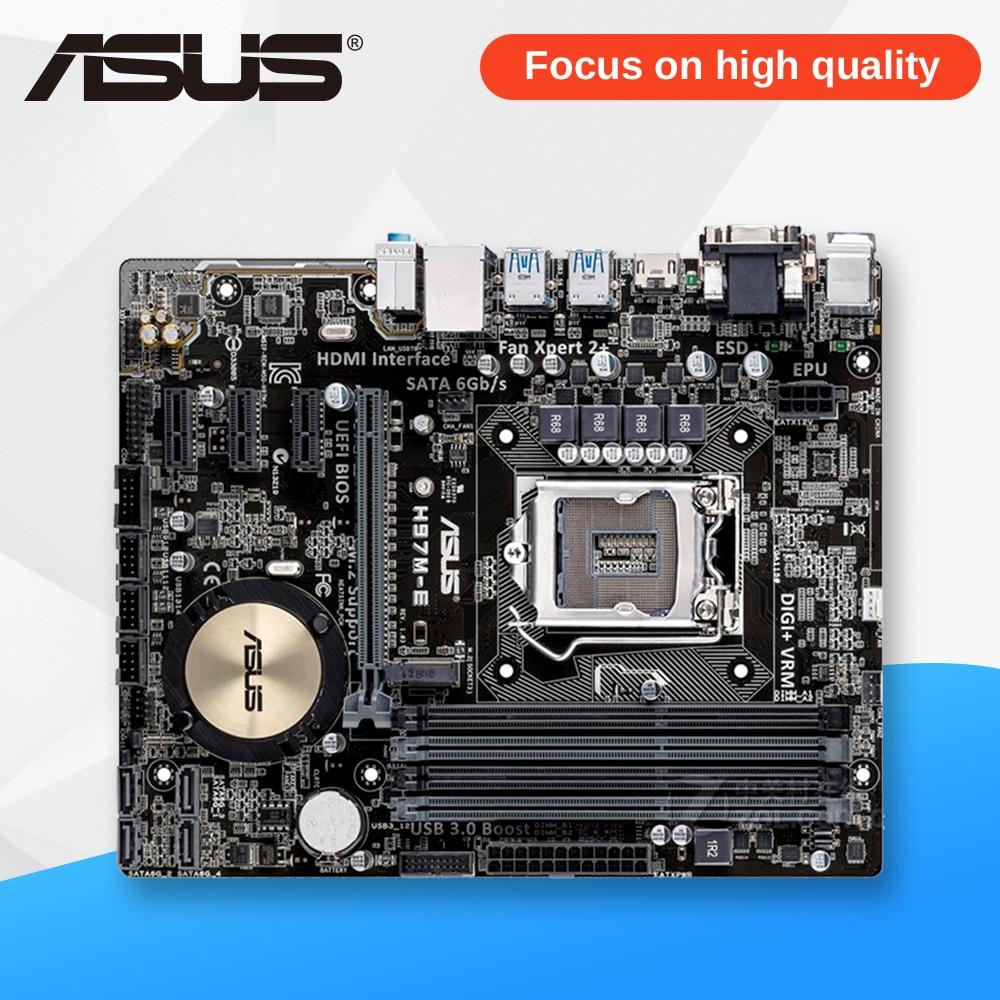 Asus H97M-E Desktop Motherboard H97 Socket LGA 1150 i7 i5 i3 DDR3 16G  UBS3.0 Micro-ATX asus p7h55 m lx usb3 desktop motherboard h55 socket lga 1156 i3 i5 i7 ddr3 usb3 0 uatx
