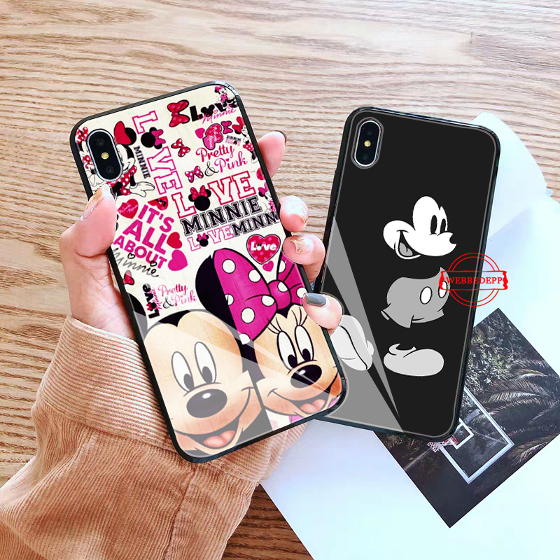WEBBEDEPP Anime cartoon Glass Phone Case for Apple iPhone XR X XS Max 6 6S 7 8 Plus 5 5S SE in Fitted Cases from Cellphones Telecommunications