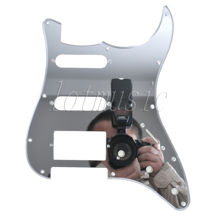 Quality Mirror SSH Pickups 11 Hole Pickguard For Fender Strat Style Replacement
