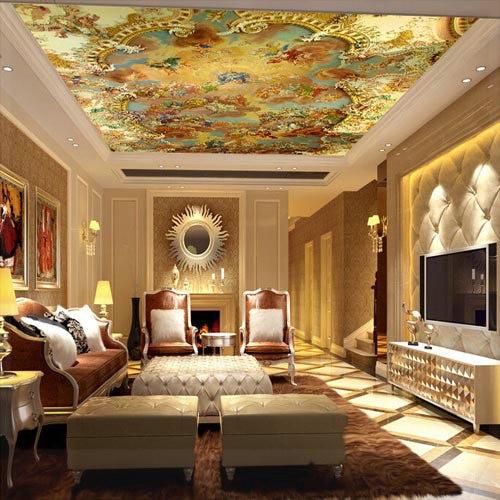 ceiling dining living murals 3d wallpapers suspended wall mural kitchen custom modern aliexpress