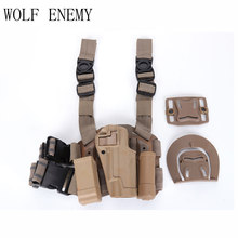1911 tactical puttee thigh drop Leg holster pouch pistol Black Tan Leg Holster for 1911(China)
