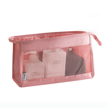 New Fashion Mesh Transparent Cosmetic Bags Travel Women Nylon Zipper Makeup Pouch Portable Organizer Storage Bag