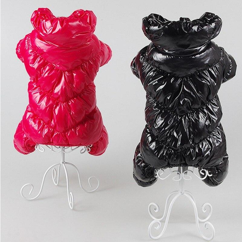 Новинка, супертолстая ветрозащитная зимняя одежда большого размера для маленьких собак, комбинезон, теплое пальто для собаки, куртка, лыжный костюм, одежда-1