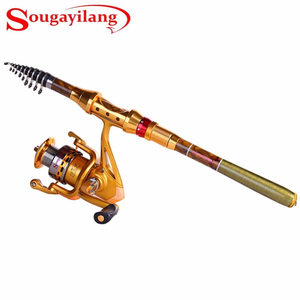 Sougayilang 1.8 3.6M Protable Fishing Rod with Reel Set ...
