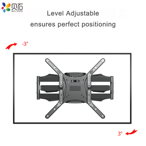 """Image 5 - Articulating 6 Arms TV Wall Mount Full Motion Tilt Bracket TV Rack Wall Mount  for 32"""" 65"""" TVs up to VESA 400x400mm and 88lbs"""