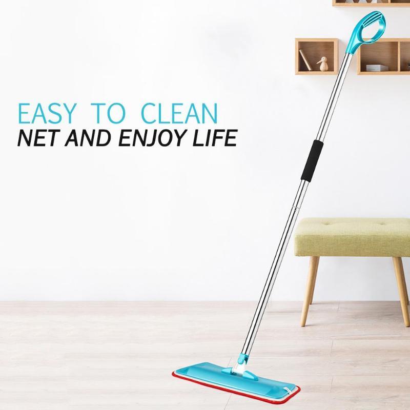 Microfiber Cloth Tile Floor Flat Mop Swab Home Cleaning ...