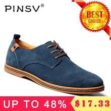 1caac2197 PINSV أكسفورد أحذية الرجال حذاء رياضة أسود أحذية من الجلد أحذية رجالي  الربيع الخريف حذاء من الجلد المدبوغ رجل أسود رياضية زائد أ.