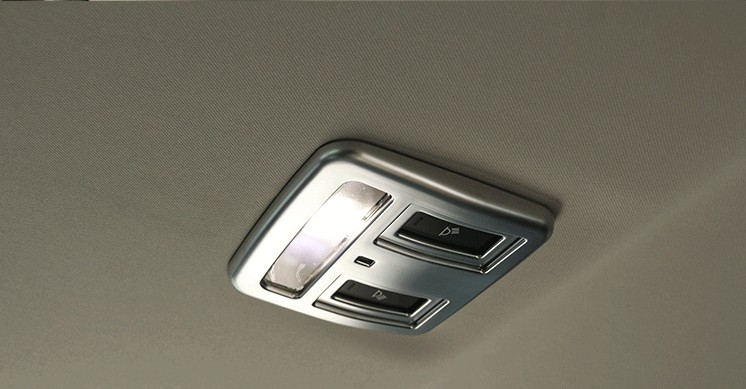 For Jaguar XE X760 XF X260 2016 Car styling Auto Interior Accessories ABS Matte Chrome Rear Roof Reading Light Frame Cover Trim in Interior Mouldings from Automobiles Motorcycles