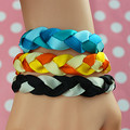 2015 new fashion hand-woven colorful bracelet Three different choice Women fashion jewelry Fine jewelry wholesale Free Shipping