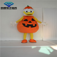 ohlees actual real picture Jack o Lantern Pumpkin Duck Mascot Costume Adult Size Outfit Plush Costumes Fancy Dress