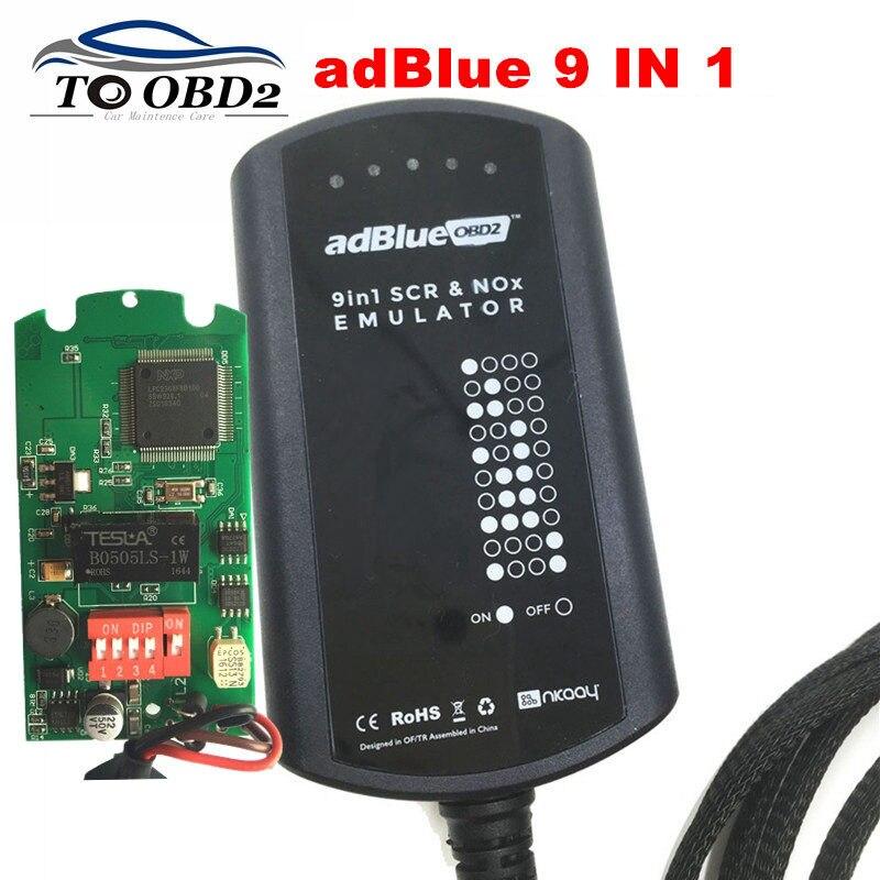 Adblue Emulator 9 EM 1 Suporta 9 Caminhão Marcas 8 EM 1 AdBlueOBD2 SCR & Caixa NOX Obras EURO 4 & 5 anúncio Azul Sem Necessidade de Software