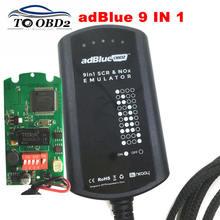 Adblue emulador 9 em 1 suporta 9 marcas de caminhões, 8 em 1, scr & nox box, funciona euro 4 & 5 ad azul sem necessidade de software