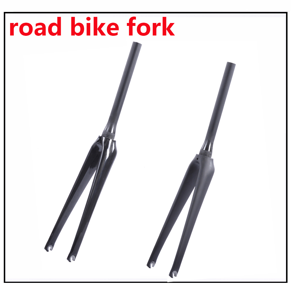 380g Only Super Light 700C Road Bike Fork Matte / Glossy V Brake Carbon Bicycle Fork with TUV Certification