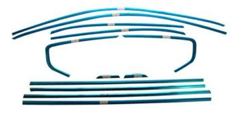In the original 16-18 for Volkswagen Passat modified decorative stainless steel windows bright chrome bar accessories