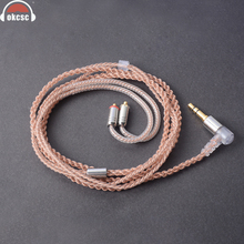 OKCSC Earphone Upgrade Cable 5N 4 shares MMCX jack Wire Single Crystal Plated Copper for Shure SE846, SE535, SE425, SE315, SE215 mmcx plug bluetooth cable adapter for shure se215 se535 se846 se315 replacement headphone earphone headset silver plated wire