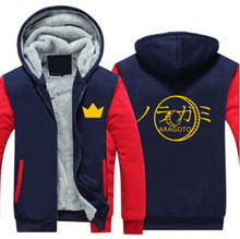 New Winter Jackets and Coats Noragami hoodie Anime YATO Hooded Thick Zipper Men women Sweatshirts