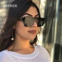 ZXTREE Yeni Tek Parça Lens Güneş Kadınlar Boy Büyük Kalkan Seksi Serin Güneş Gözlüğü Kadın HD Gözlük Gradient Aviator Shades