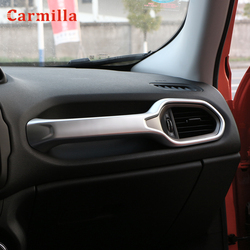 Car Air Vent Handle Hold Glove Box Handle Cover Trim Stickers Fit for Jeep Renegade 2015 2016 2017 2018 Passenger Side