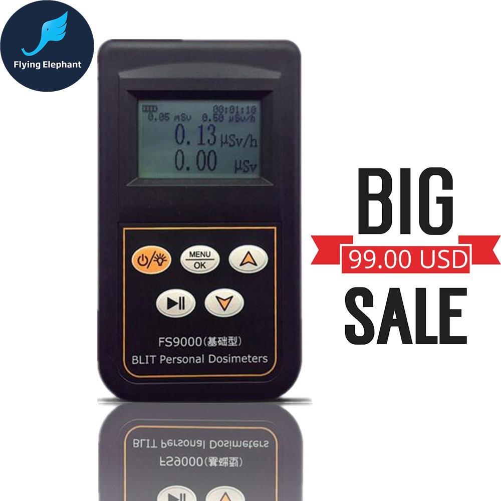 Japanese English version FS9000 Geiger Counter Personal Alarm Dosimeter Radiation Tester