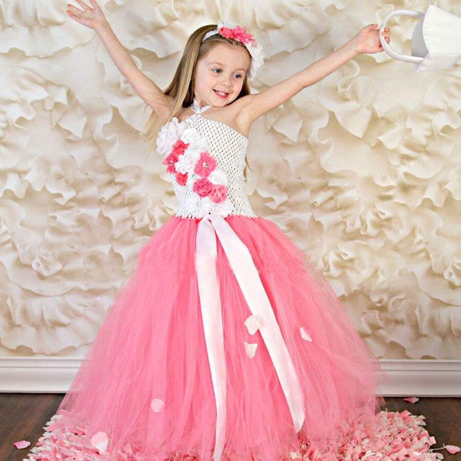 Flower girl wedding tutu dress children fluffy dress for for Kids dresses for wedding