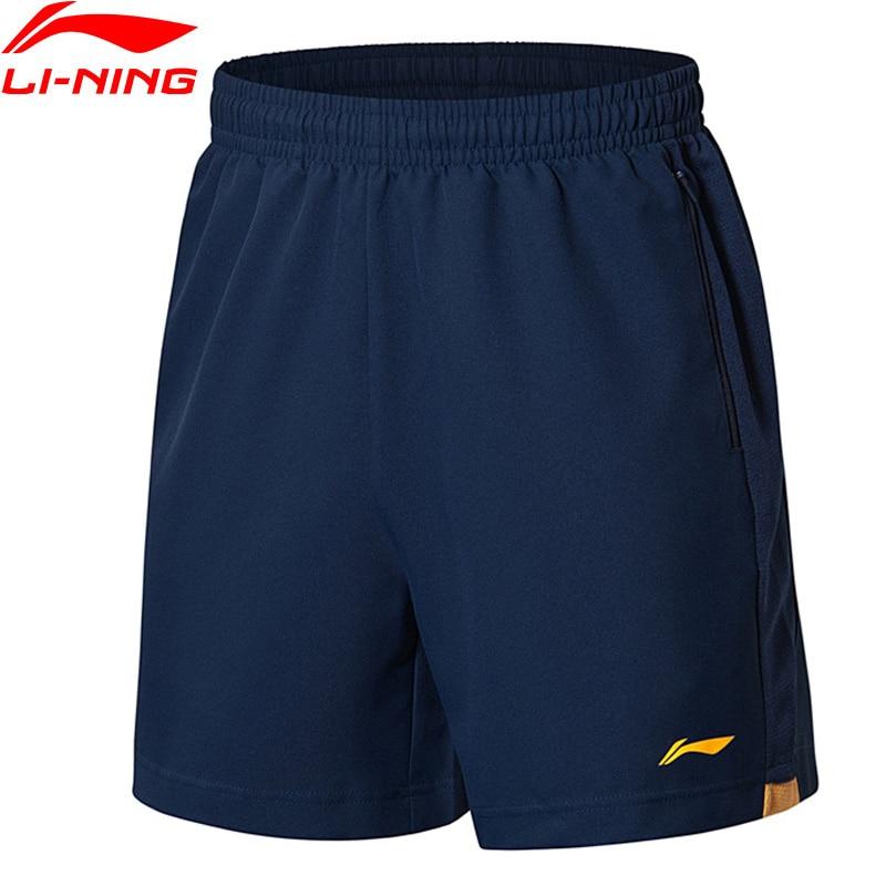 Li-Ning Men Soccer Series Competition Shorts Polyester Regular Fit Breathable Comfort LiNing Sport Shorts AAPL189 MKD1534