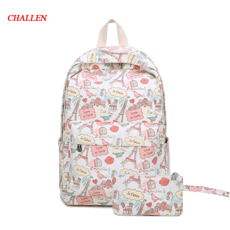 CLASSIC SIZE Printing Women Backpacks Preppy School Bag For Teenager Girl Boy Casual Ladies Travel Shoulder Bags Laptop Bag