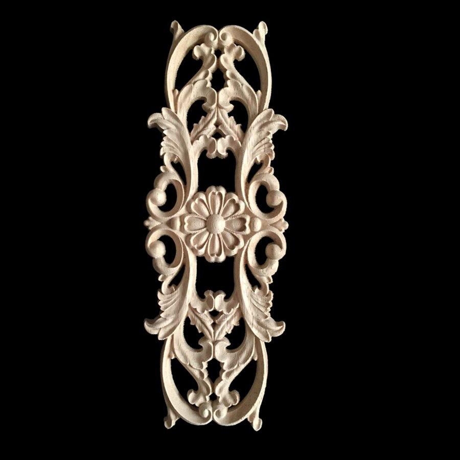 5/10 pièces décalque de sculpture sur bois coin bois sculpté coin meubles Figurine décorative en bois Miniatures décor à la maison pour porte d'armoire