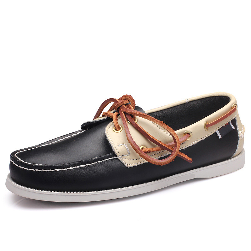 OLOME High-quality multi-color mens leather casual shoes fashion breathable sneakers fashion sailboat shoesOLOME High-quality multi-color mens leather casual shoes fashion breathable sneakers fashion sailboat shoes