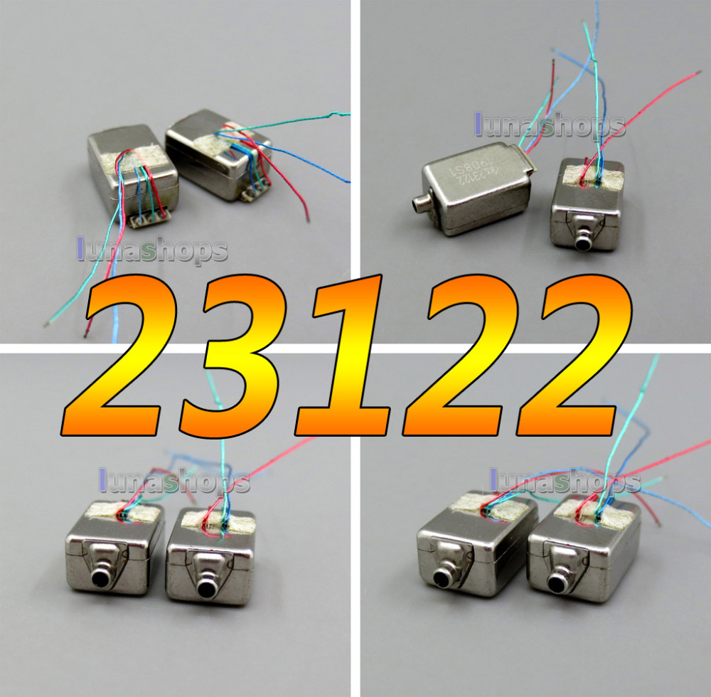 1pair CK-23122 Balanced Armature Driver Earphone Speaker For Knowles UE JH In-Ear Monitor IEMs Noise Cancelling LN005984