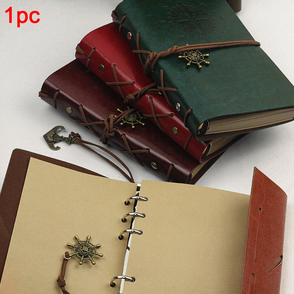 Artificial PU Pirate Notebook Diary Strap Planner