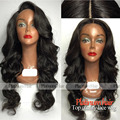 Wholesale Synthetic lace front wig black color body wave heat resistant brazilian hair synthetic lace front wig for black women
