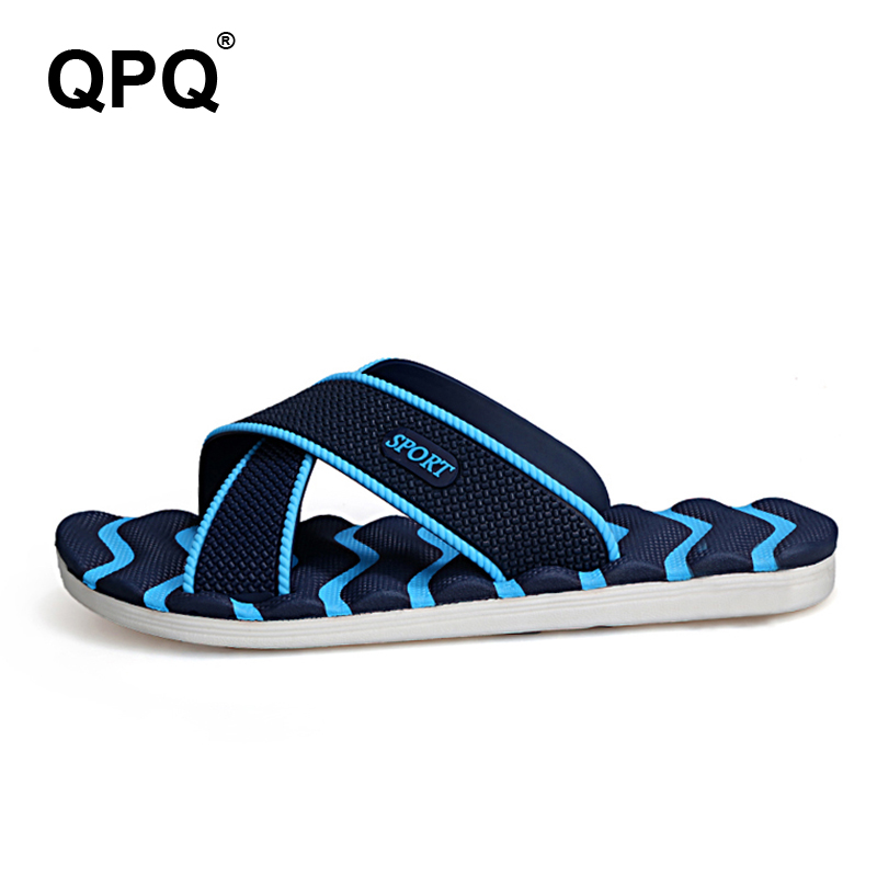 Men's Slippers Summer Non-slip Massage Slippers Fashion Man Casual Plus Size High quality Soft  Beach Shoes Flat Flip Flops XC19 leopard cool men beach slippers summer 2017 new fashion soft non slip flip flops shoes outdoor flat casual slippers plus size