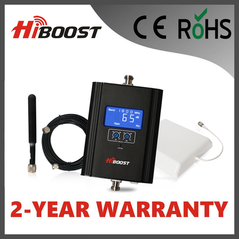 Hiboost Mobile Signal Booster LCD GSM DCS LTE 1800mhz 2G 3G 4G Signal Booster Cell Phone Repeater with Antenna Cable Hi13-DCS