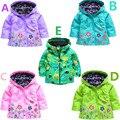 2017 de la muchacha de abrigo y chaquetas de los hoodies de los niños chaquetas abrigos niñas chaqueta prendas de vestir exteriores impermeable de Los Niños para niños niños top