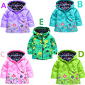 2017 girl's coat and jackets children hoodies kids jackets coats girls outerwear Children's raincoat jacket for boys kids top