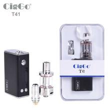 D'origine CigGo T41 TC Boîte MOD cigarette électronique boîte OLED affichage 1100 mAh batterie 41 Watts e-cigarettes mod kit