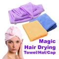 Magia de secado Rápido del pelo Toalla Cabello Seco Tapa Toalla del Sostenedor del Ponytail de la Señora N Toalla De Microfibra Pelo (Al Azar Color)