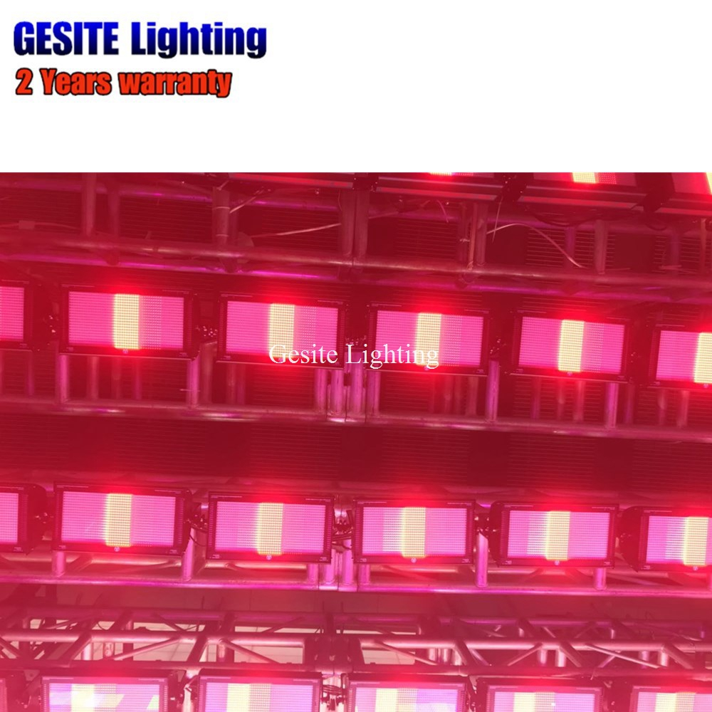 rainbow effect GST-B1000RGB 1000W Led Strobe Light Red/Green/Blue Mixing 3pin/5pin Build In