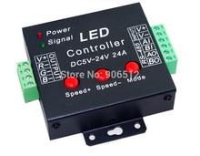 цена на Free Shipping 3CH RGB Controller,3 channel RGB control for LED strip light,LED RGB dump node,DC5V-24V,each channel max 8A