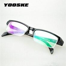 YOOSKE Half Frame HD Resin Myopia Glasses Women High Quality Cheap Black Frams