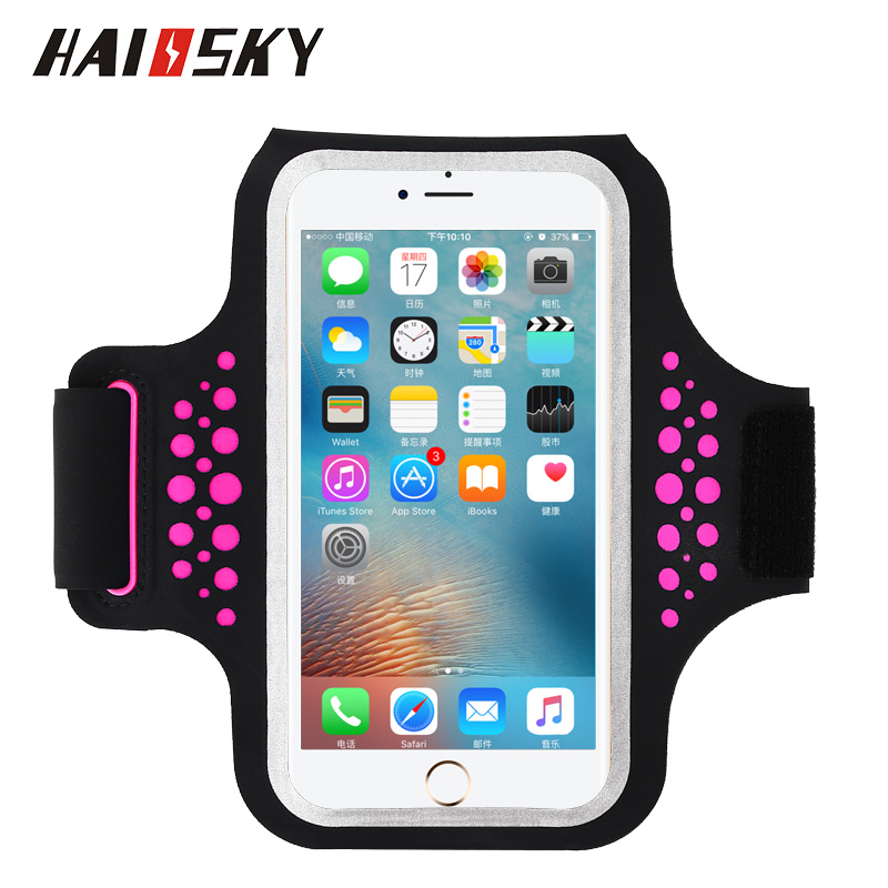 new product 31858 45ce2 US $7.19 30% OFF|Haissky Running Fitness Sport Armband For iPhone X 8 7  Plus Touch Screen Arm Band Cover Case For Samsung S9 S8 Plus Redmi 5  Plus-in ...