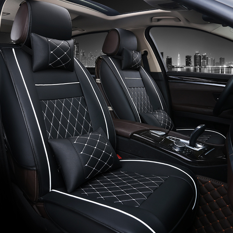 front rear luxury leather car seat covers for toyota corolla camry rav4 auris prius yalis. Black Bedroom Furniture Sets. Home Design Ideas