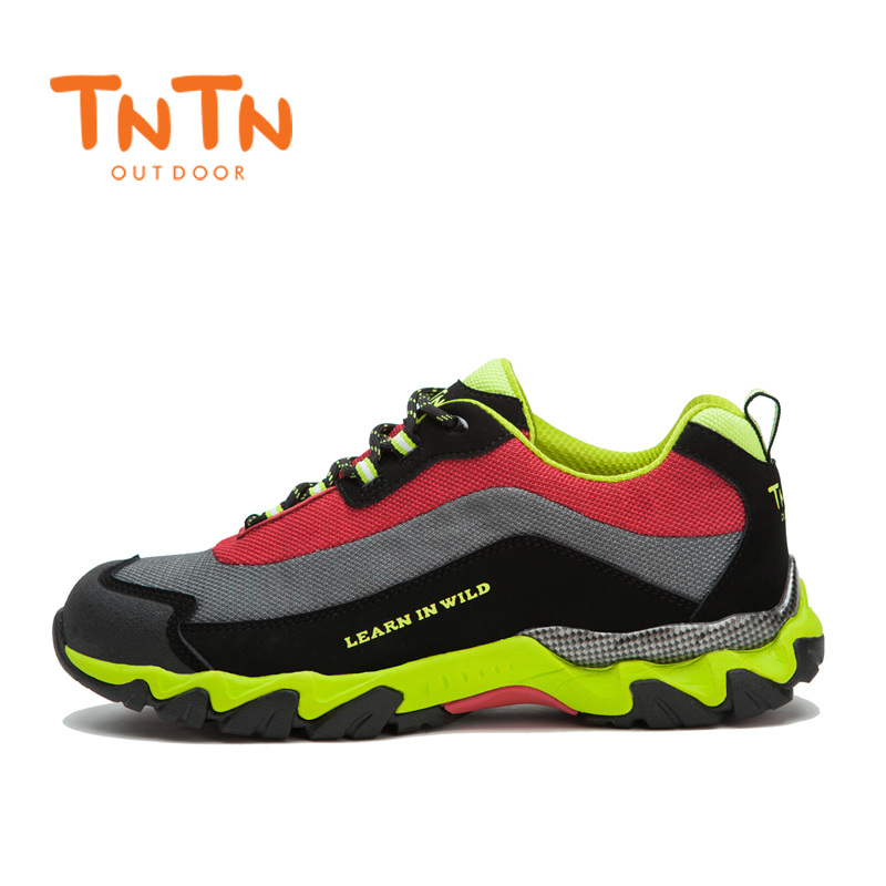 Hiking Shoes Cow Leather Mesh Trekking Climbing Trail Athletic Sports Mountain 100% High Quality Walking Climbing Mens