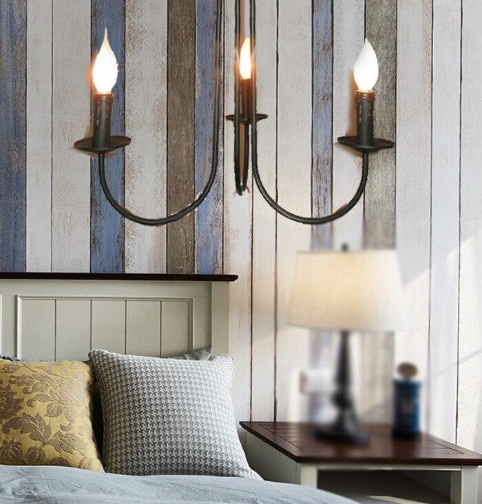 3 5 6 hlav Black Iron kreativní lustry svíčky světla jednoduchý vinobraní bar foyer svíčka světlo jídelna severská osobnost